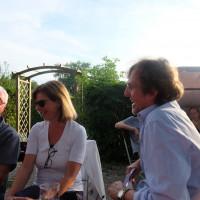 Sieghard Schramm und Christine Sturm-Rudat im Gespräch mit OV-Vorsitzendem Peter Biet