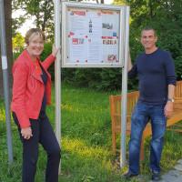 Bundestagsabgeordnete Uli Bahr und Ortsvereinsvorsitzender Wolfgang Kolenda